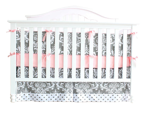 Boho White Floral Crib Bedding Set