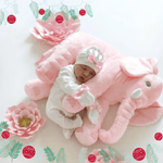 Pink Plush Elephant Pillow Toy