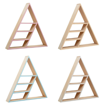 Nordic Divided Triangle Shelf Decoration