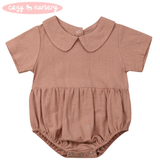 Peter Pan Collar Romper - Cozy Nursery