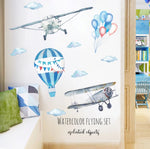 Plane and Hot Air Balloon Wall Stickers
