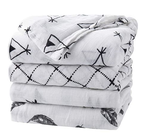 Nordic Pattern Baby Muslin Swaddle set - Cozy Nursery