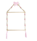 Nordic Wooden Bead Clothes Hanger - Cozy Nursery