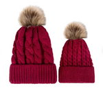 Mother & Baby Winter Warm Hats Set