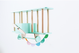 "mini biplane ""mini dashy"" nursery shelf - Cozy Nursery"