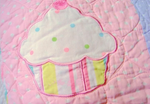 Cupcake Handmade Patchwork Quilt Bedspread set 175*220cm for kids
