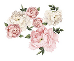 Large Peony Rose Wall Stickers
