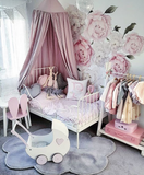 Peony Rose Wall Stickers - Cozy Nursery