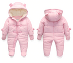 Warm Hooded Baby Jumpsuit - Cozy Nursery