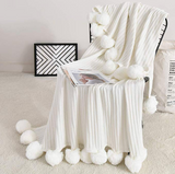 Cotton Pompom Blanket - Cozy Nursery