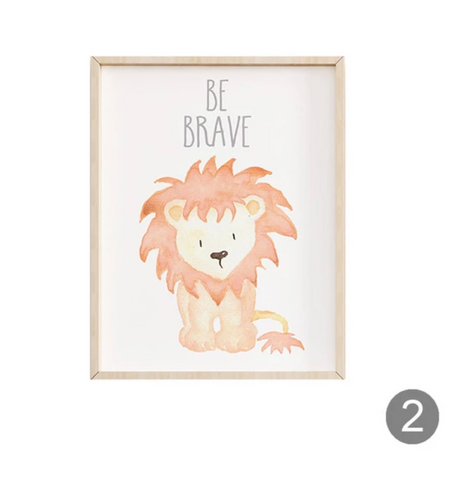 Safari Baby Animals Posters - Cozy Nursery