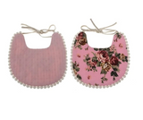 Baby Vintage Bibs with Pom Poms - Cozy Nursery