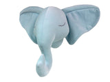 Handmade Velvet Elephant Head Nursery Decor