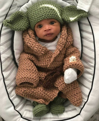 Baby Yoda Knitted Costume