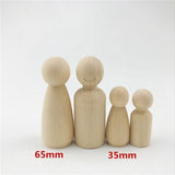 Waldorf Wooden Peg Dolls 6Pcs - Cozy Nursery