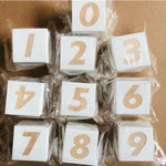 Wooden Numbers Block Set - Cozy Nursery