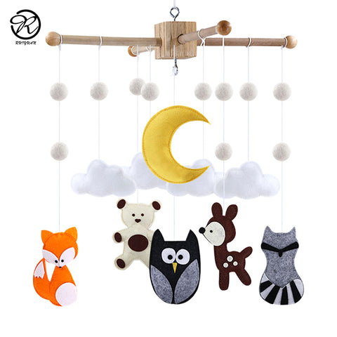 Woodland animals crib mobile - Cozy Nursery