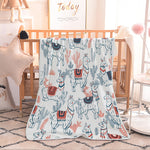 Alpaca Print Soft Flannel blankets For Kids - Cozy Nursery