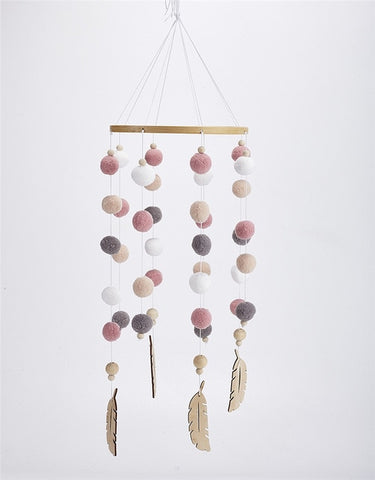 Nordic Felt Hanging Mobile - Cozy Nursery