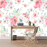 Vintage Watercolour Floral Wallpaper - Cozy Nursery