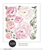 Pink Peony Flowers Wall Decals