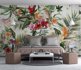 Rainforest Plant  Silk 3d Wallpaper - Cozy Nursery
