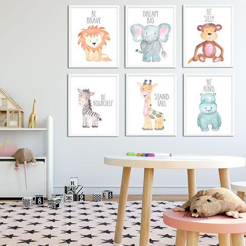 Safari Baby Animals Posters