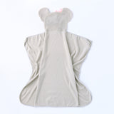 Elephant Baby Hooded Swaddle Blanket - Cozy Nursery