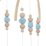 Nordic Baby Wooden Beads Mobile - Cozy Nursery