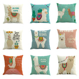 Llama Alpaca Cushion Cover - Cozy Nursery