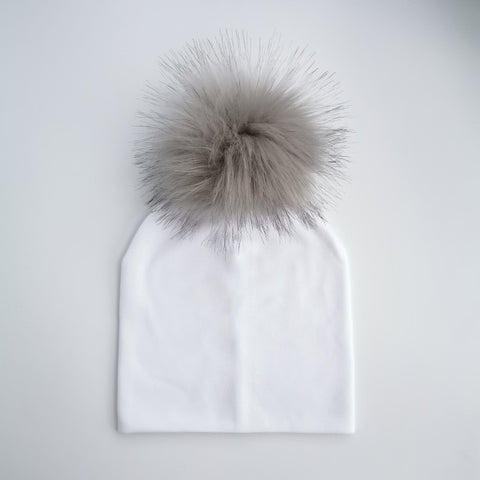 Kids cotton hats with pom pom - Cozy Nursery