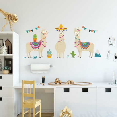 Cute Alpaca Wall Sticker - Cozy Nursery
