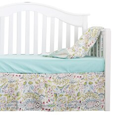 Mint Blue Ruffle Baby Minky Blanket - Cozy Nursery