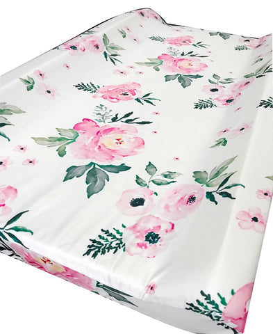 Peonies Baby Changing Pad Cover