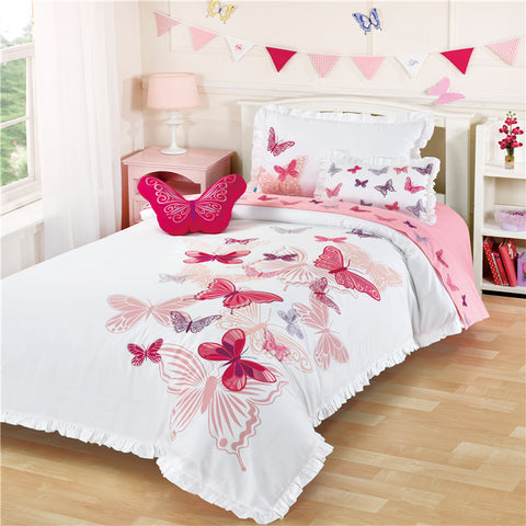 Butterfly Embroidery Girl Bedding