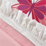 Butterfly Embroidery Girl Bedding - Cozy Nursery