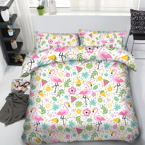 Tropical Flamingo Bedding Set 100%cotton