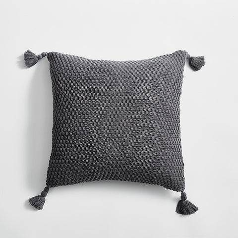 Nordic Cushion Cover with Tassels 45x45