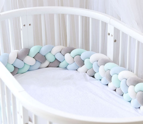 4 Braids Baby Bed Crib Bumper 2.2M - Cozy Nursery