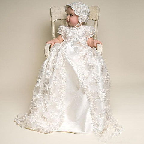 Vintage Baby Baptism Dress - Christening Gown