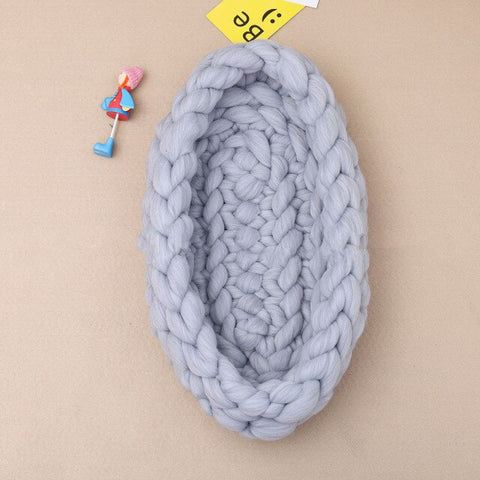 Handmade Chunky Knit Cocoon Baby Nest