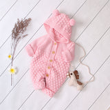 Baby Cotton Romper With Ears - Cozy Nursery
