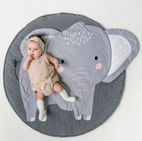 Elephant Baby Play Mat - Cozy Nursery