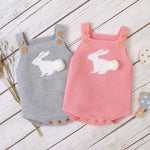 Baby Sleeveless Rabbit Romper - Cozy Nursery