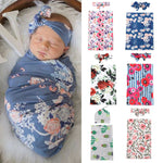 Baby Floral Swaddle and Headband