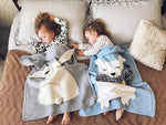 Polar Bear Baby Knitted Blanket