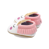 Blush Unicorn Leather Shoes - Cozy Nursery