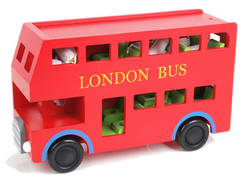London Bus Baby Wooden Toy - Cozy Nursery