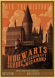 Harry Potter Vintage Train Express Diagon Alley Poster