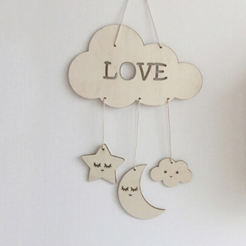 Wooden Moon Nursery Decor - Cozy Nursery